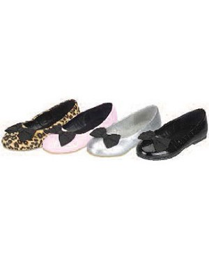 Z: L'Amour BLACK Slip On Shoe with Black Bow
