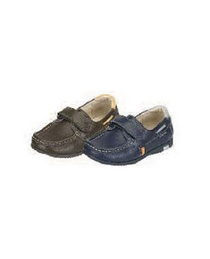 Z: L'Amour BOYS BROWN Velcro Loafers