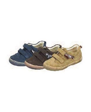 Z: L'Amour BOYS BROWN Double Velcro Shoes