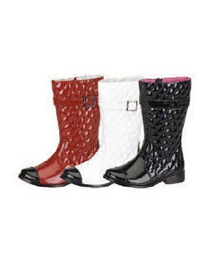 Z: L'Amour PATENT RED/WINE Buckle Boots