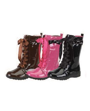 Z: L'Amour BROWN Patent Boots *BESTSELLER*