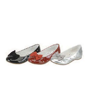 Z: L'Amour PATENT SILVER Rhinestone Slip On Shoes