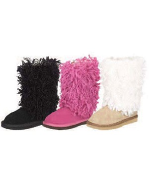 Z: L'Amour BLACK Fur Boots