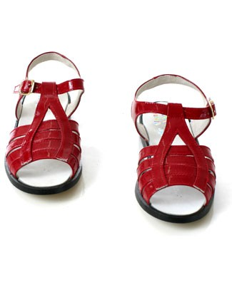 R: Pipiolo Red Patent Sandal