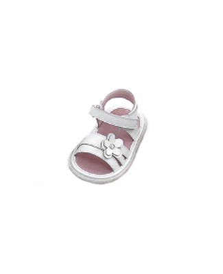 OS: L'Amour WHITE Flexi-Sole Flower Sandals
