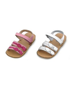 Z: L'Amour PINK Strappy Two Bow Sandal