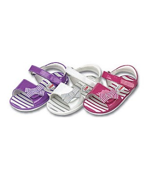 Z: L'Amour PATENT FUCHSIA Sandal with Striped Side Bow