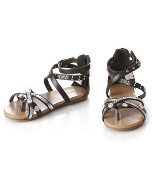 Z: L'Amour BROWN Strappy Bling Sandal