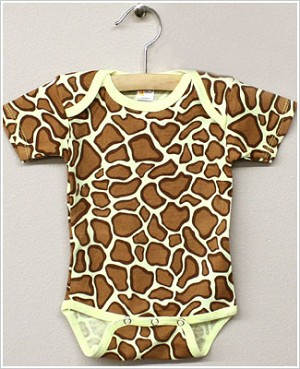 Laughing Giraffe Short Sleeve Giraffe Bodysuit