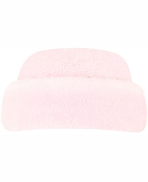 Le Top Pink Faux Fur Rolled Brim Hat