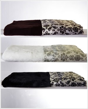 Z: Little Giraffe Luxe Brocade Satin Throw *More Colors!*