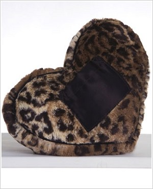 Z: Little Giraffe Luxe Leopard Tooth Fairy Heart Pillow