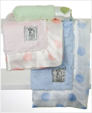 Z: Little Giraffe Luxe New Dot Blanky *More Colors!*