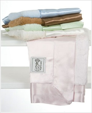 Z: Little Giraffe Luxe Satin Blanky *More Colors!*