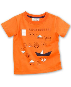 Little Maven S/S Orange *Paper Boat 101* Tee