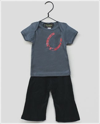 Lollybean Grey/Black Lucky S/S Shirt & Pant Set