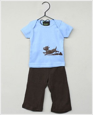 Lollybean Blue/Brown Buddy S/S Shirt & Pant Set