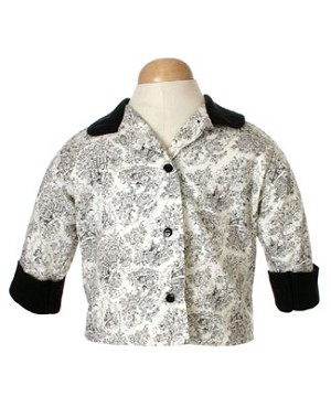 5y II: Loto Blu Black & White Blouse