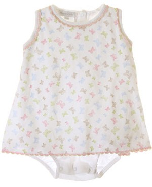 Magnolia Baby White Butterfly Kisses Skirted Ruffle Back Bubble