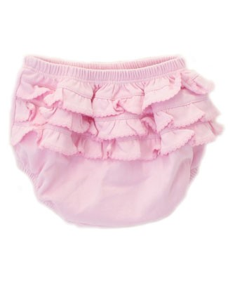 Magnolia Baby Pink Ruffle Back Diaper Cover