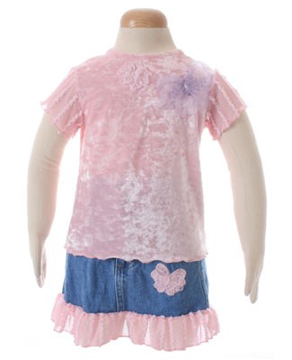 2T II: Marsha Pink Valour Shirt And Denim Skirt