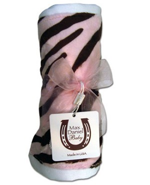 Z: Max Daniel *CHOCOLATE/PINK ZEBRA* Burp Cloth