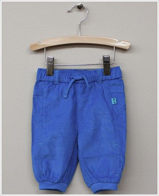 x: Me Too Boys Blue Fine Cord Pants