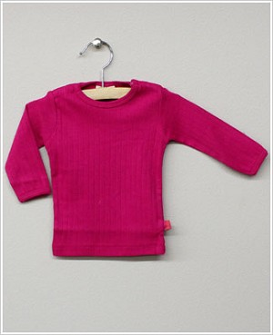 x: Me Too Fuchsia L/S Ribbed Shirt