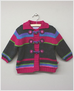 x: Me Too Big Girls Multi Striped Cardigan