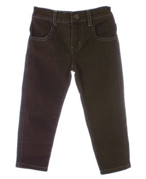 Mulberribush Brown Sand Blasted Denim Skinny Jean