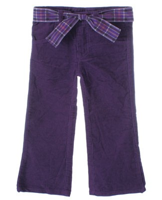 Mulberribush Purple Flare Pant With Belt