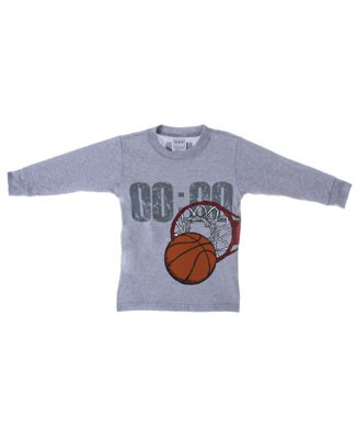 Mulberribush Grey Basketball Hoops Organic L/S Jersey Shirt