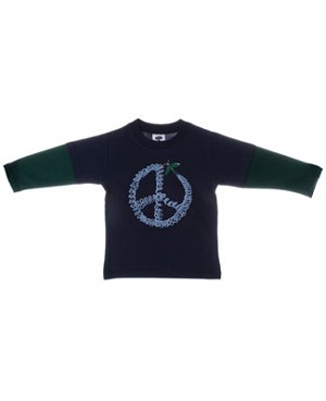 Mulberribush Navy And Green Peace Shirt
