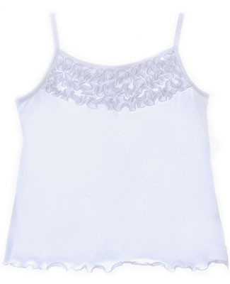 Mulberribush White Tank Top w/ Ruffles