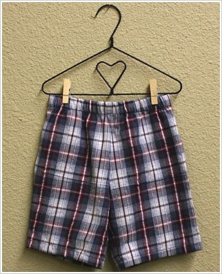 Mulberribush Navy/Red Plaid Side Pocket Shorts