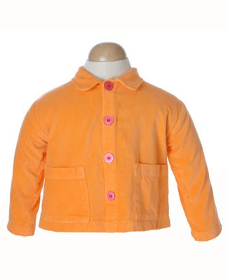 II: Munki Munki Girl World Orange Velveteen Jacket