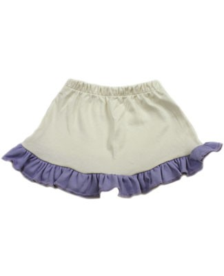 : Ooh Baby Cream Skirt with Periwinkle Ruffle