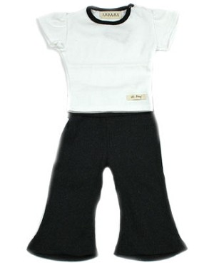 : Ooh Baby Sporty Yoga White Cap Sleeve Top & Pant Set