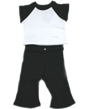 9m-18m : Ooh Baby Sporty Yoga Charcoal Cap Sleeve & Pant Set
