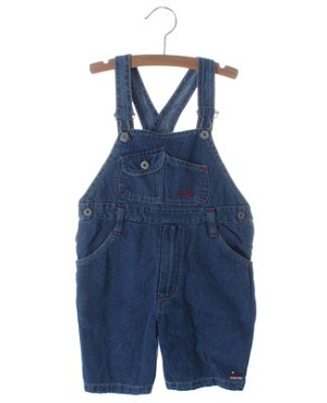 4 ans (4y) Petit Boy Blue With Red Stitching Denim Shortalls