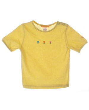 Miss Petit Boy Yellow S/S Shirt With Tulips