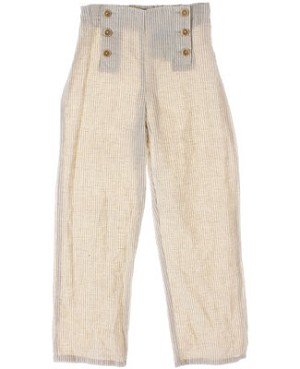 6A (6y) Petit Boy Cream Striped Pants