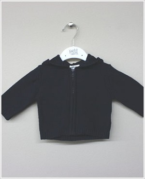 Petit Lem Navy L/S Knit Sweater With Hood