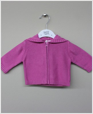 Petit Lem Begonia Pink L/S Knit Sweater With Hood