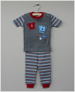 Petit Lem Grey Striped Soccer Top And Pants