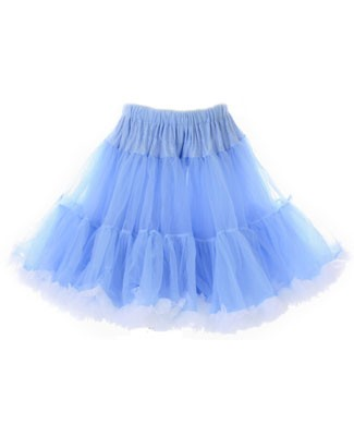 BABY BLUE/WHITE Pettiskirt