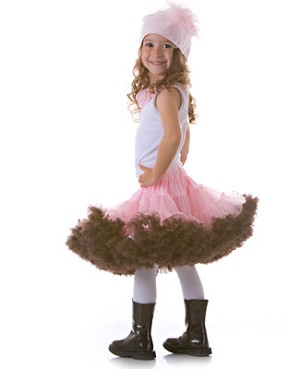 STUNNING Light Pink/Brown Pettiskirt