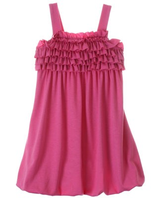 Plum Pudding Peony Pink Bubble Dress