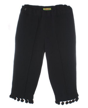 Poesia *Sample* Black Pom Pom Capri