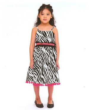 Size 4 Poesia Black Zebra Dress